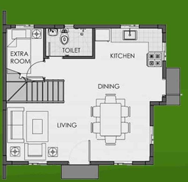 camella homes pagadian city Dana ground floor plan