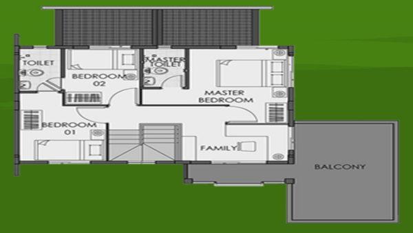 camella homes freya floor plan second floor
